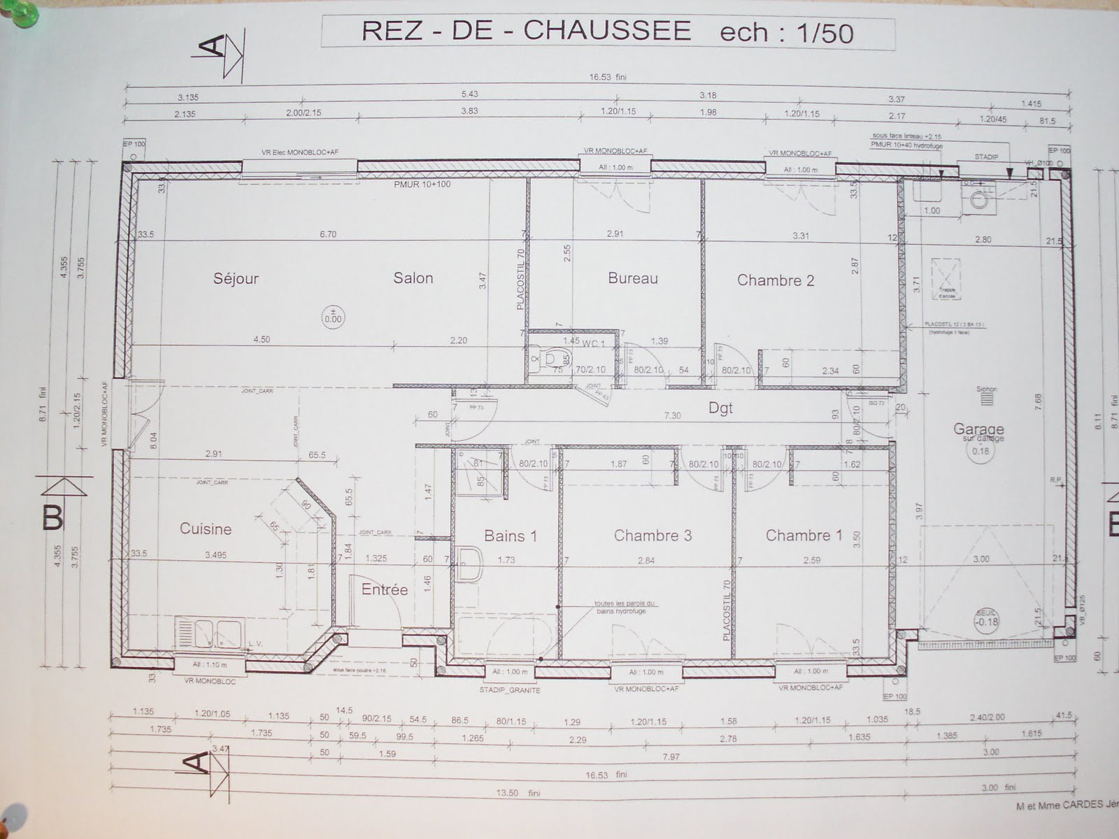 Plan construction maison architectural plein pied joy for Plan construction maison
