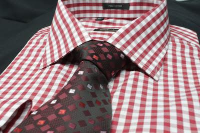 Camisa de Vestir Cuadros Rojos - Oferta