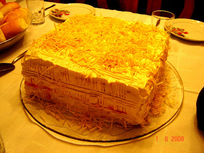 Parece um bolo mas é uma torta fria