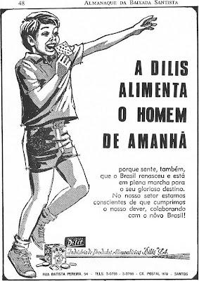 Reprodução de anúncio no Almanaque da Baixada Santista