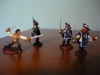 Ephemera L Figures The Three Musketeers And D Artagnan