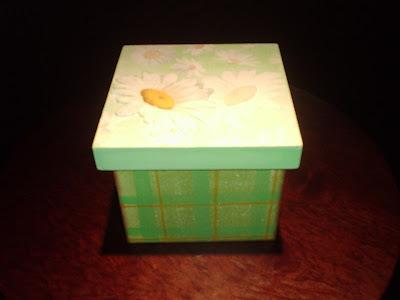 caixa em mdf verde