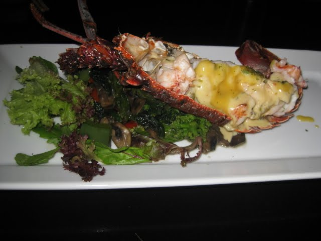 MISO CITRUS LOBSTER TAIL - grilled green lobster tail served in a miso ...