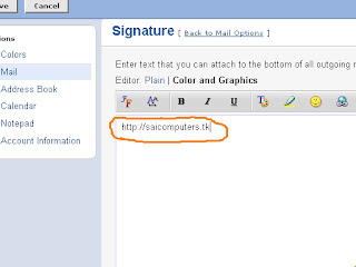 fig2 Add Website as a Signature to Your Yahoo! Mail ID