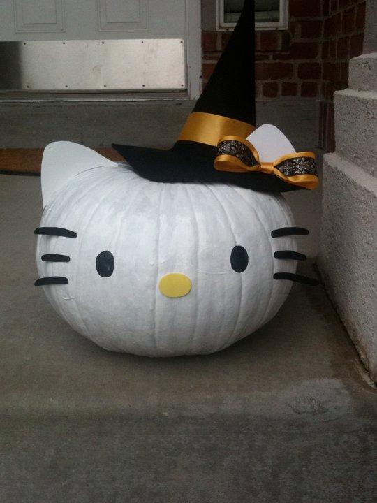 Pusang maganda hello kitty pumpkin for Pumpkin kitty designs