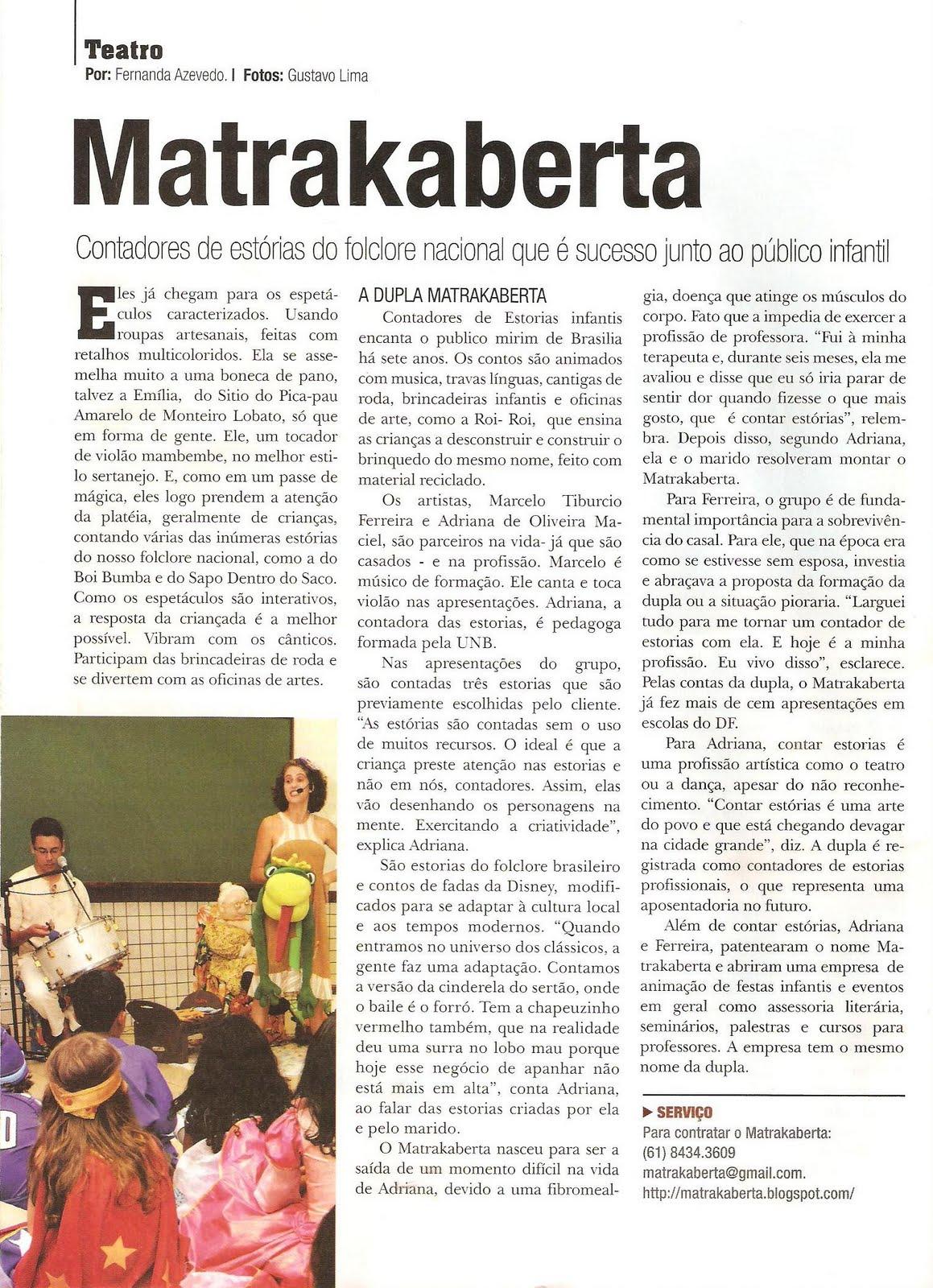Reportagem da revista
