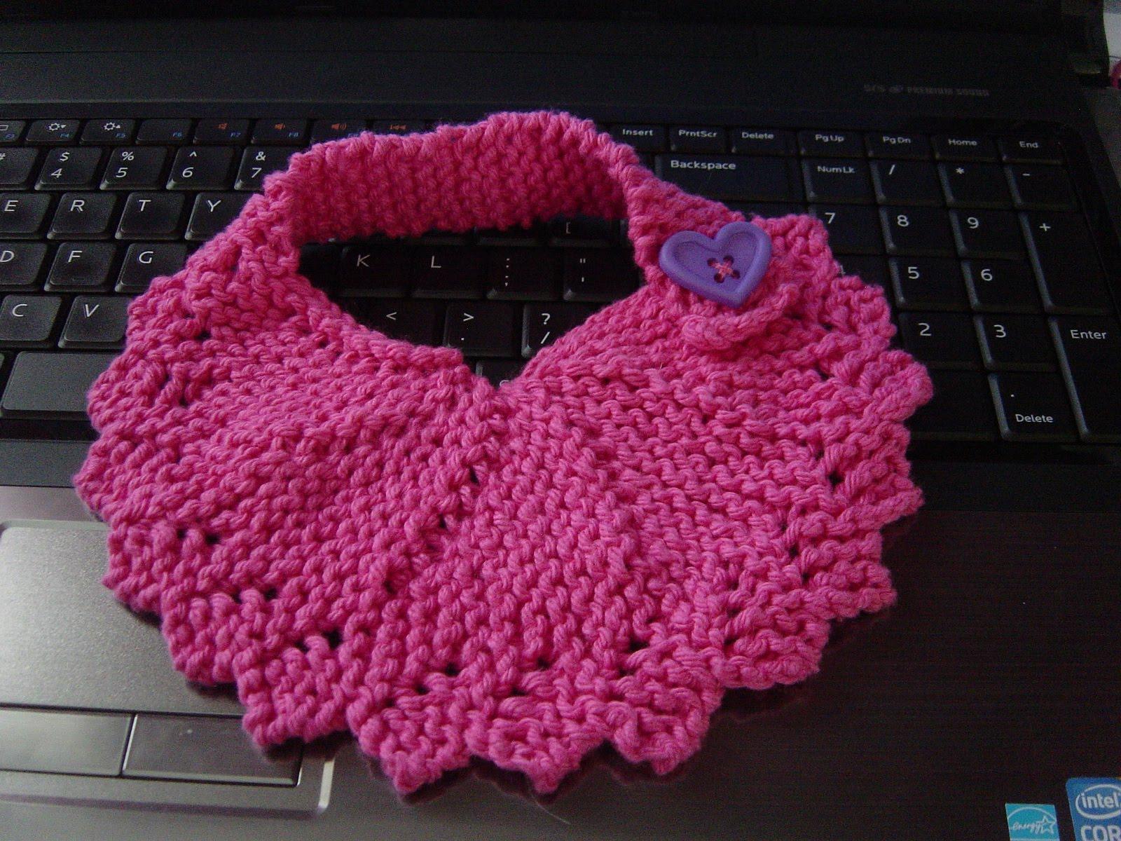 Knitting Pattern For Toddler Overalls : Cheryls Knitting: dishcloth turned bib