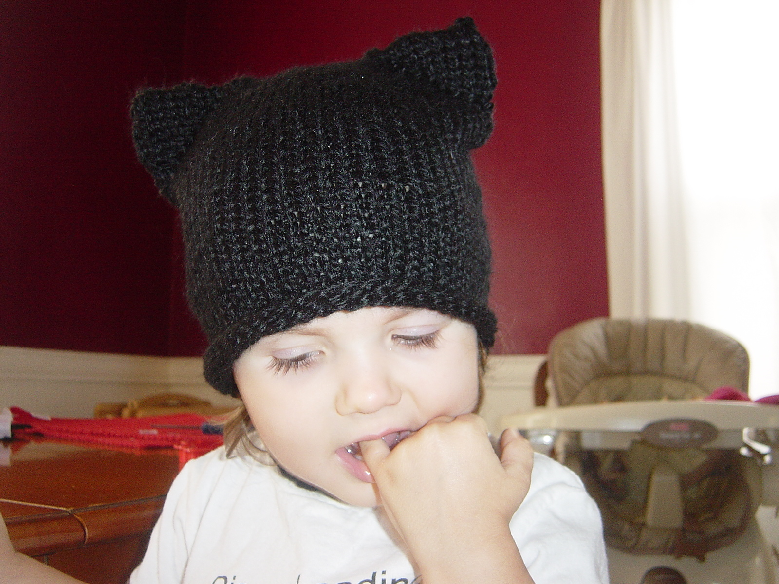 Knitting Pattern Hat For Cat : Ninja Cat Hat