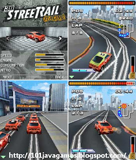 3d street rail racing screen-shot