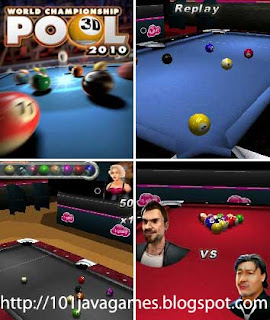 world championship pool 3D java games picture