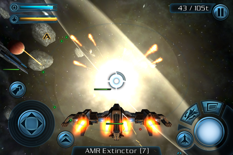 fishlabs-galaxy-on-fire-2-screenshot-iphone4-01 Galaxy on Fire 2 já está na App Store / O primeiro game sai de graça!