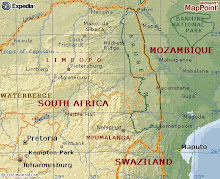 Close-up Map of S. Africa & Mozambique