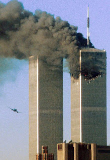 world trade center burning 9/11