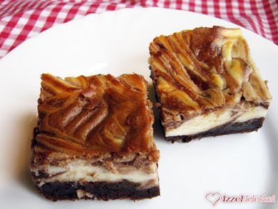 Sajtkrémes márvány brownie
