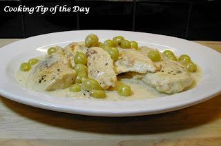 Chicken Veronique Entrancing Cooking Tip Of The Day Recipe Chicken Veronique Review