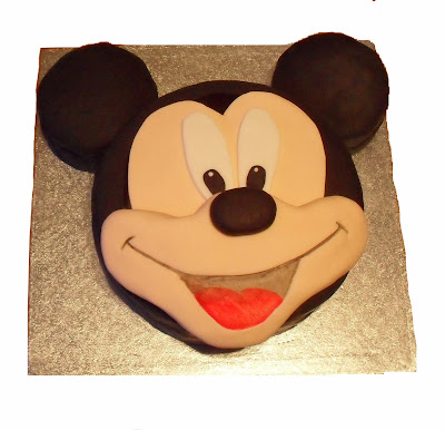 mickey mouse cake. shop bought cake any day!
