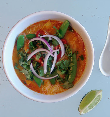 ... Bon Appétit's Spicy Curry Noodle Soup with Chicken and Sweet Potato