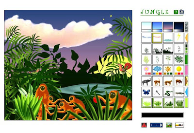 National Gallery of Art Kids - Jungle Interactive art software screen shot.
