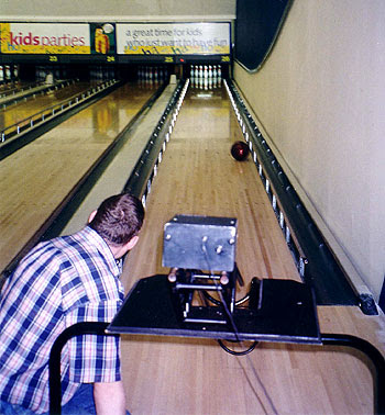Image of a switch accessible bowling machine.