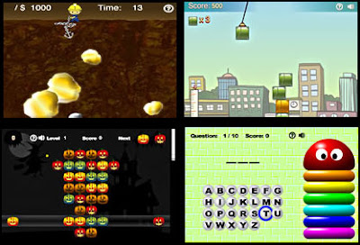 Image of four switch accessible games via NanoGames.
