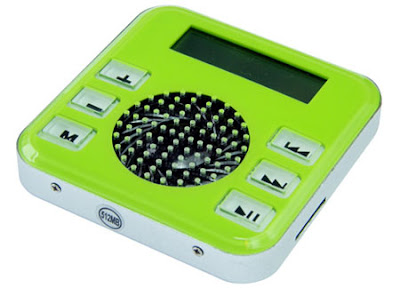 Green and White digital recorder.