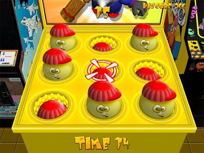 Whacka-Monty-Mole - Image of a Whack-a-Mole style game.