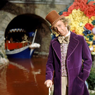 Through Wonka Gates - into Willy Wonka's Chocolate Factory.