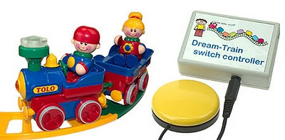 Image of a Switch Adapted Toy Train set from Dream-Technology.