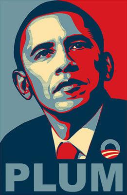 Image of Barack Obama - entitled 'PLUM'