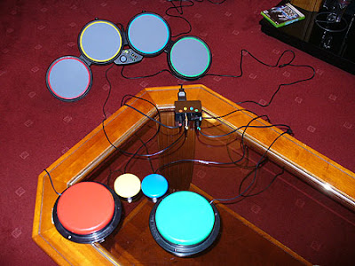 Image of switch adapted Rock Band Drums - for disabled players.