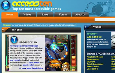 Access 10 - Special Effect mockup Gamebase web-site