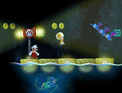 New Super Mario Brothers - Wii. Accessible Demo Play Mode.