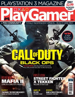 Image of PlayGamer issue 15 for PS3. Featuring an article on gaming charities including SpecialEffect's Accessible GameBase.