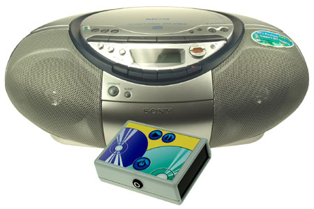 Excitim switch accessible Sony CD Player.