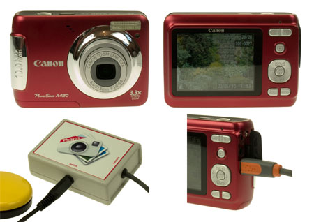 Excitim switch accessible digital camera.
