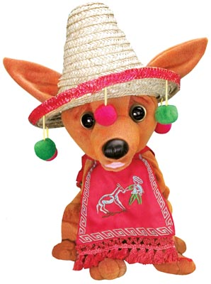 the second version is the la bamba pancho in the true ritchie valenz tradition pancho moves back and forth and to and fro as he sings a heartfelt - Animated Christmas Dolls