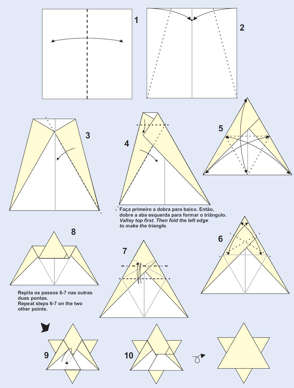 Papiroflexia para tod s septiembre 2010 - Origami de una estrella ...