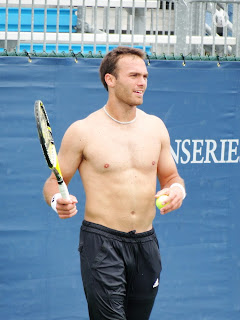 Ross Hutchins Shirtless at Cincinnati Open 2009