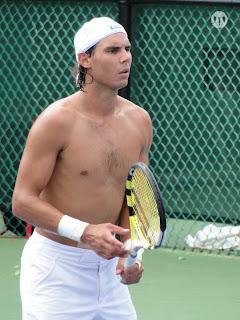 Rafael Nadal Shirtless at Cincinnati Open 2009