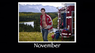 Mr. November Shirtless on 12 Men of Christmas