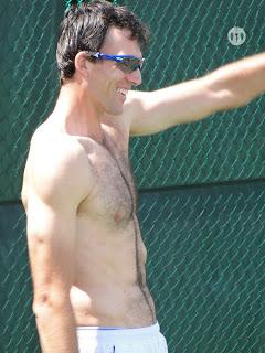 Ivo Karlovic Shirtless  at Cincinnati Open 2009