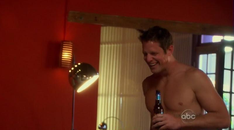 Chris Lambton Shirtless on The Bachelorette s6e03