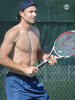 Nicolas Kiefer Shirtless at Cincinnati Open 2009