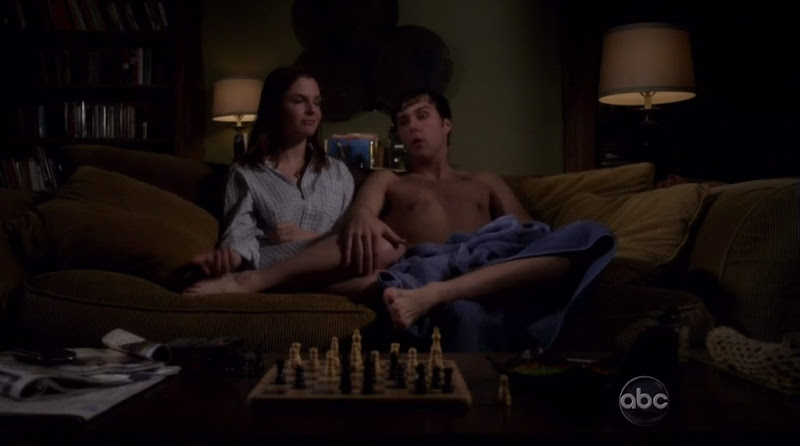 Justin Miles Shirtless on The Gates s1e03