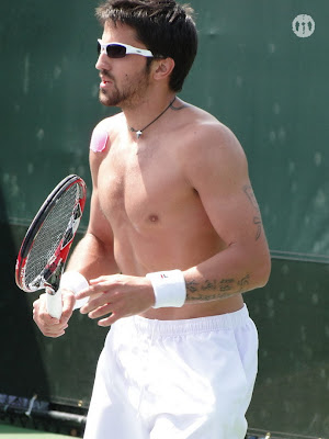 Janko Tipsarevic Shirtless at Miami Open 2010