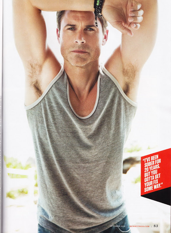 Rob Lowe Shirtless in Mens Fitness October 2010