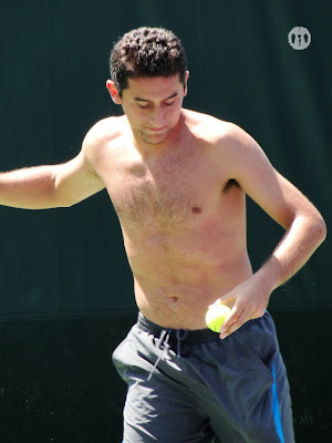 Nicolas Almagro Shirtless at Miami Open 2010