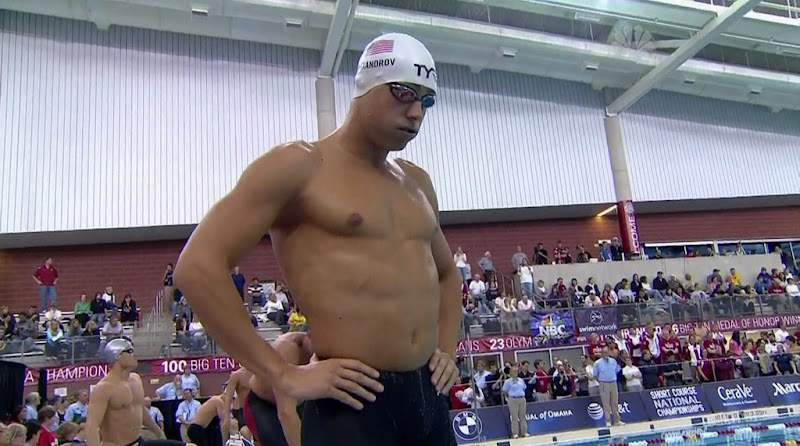 Michael Alexandrov Shirtless at Short Course National Championships 2010