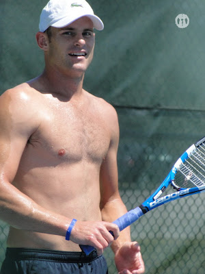 Andy Roddick Shirtless at Cincinnati Open 2010