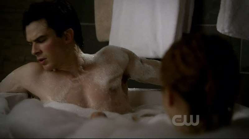 Ian Somerhalder Shirtless on The Vampire Diaries s2e13